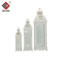 Manufacturer wholesale white color candle lanterns gold wedding candle lantern
