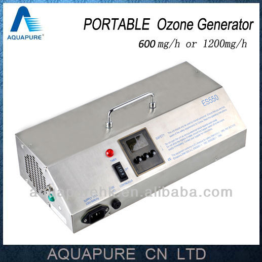 Hot! 1200mg/H Portable Ozone Machine with Timer, Air Pump, Cooing Fan