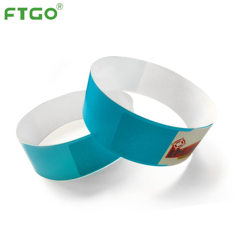 FTGO للماء الملونة ورق للطباعة تذكرة الأساور الهوية سوار للأحداث
