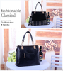 1214696380 matte leather studded chain bag Tote Bag