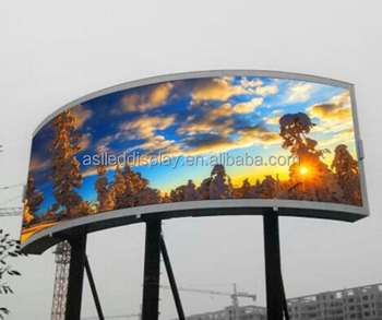 P10 outdoor arc LED display Outdoor/Indoor Arc Video Wall Curved LED Display Screen for Advertising
