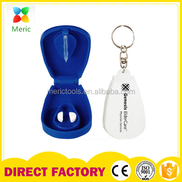Customized plastic pill box with keychain