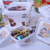 Plastic PP cup butter cheese box ice cream yogurt cup food plastic container