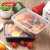 Plastic clear container food storage box plastic meal prep tray