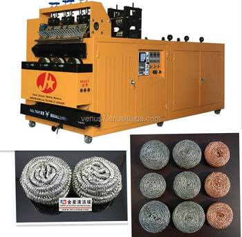 Best Welded Stainless Steel Spiral Scourer Making Machine Galvanized Iron Wire Common Srubber Machine JX-A6-3