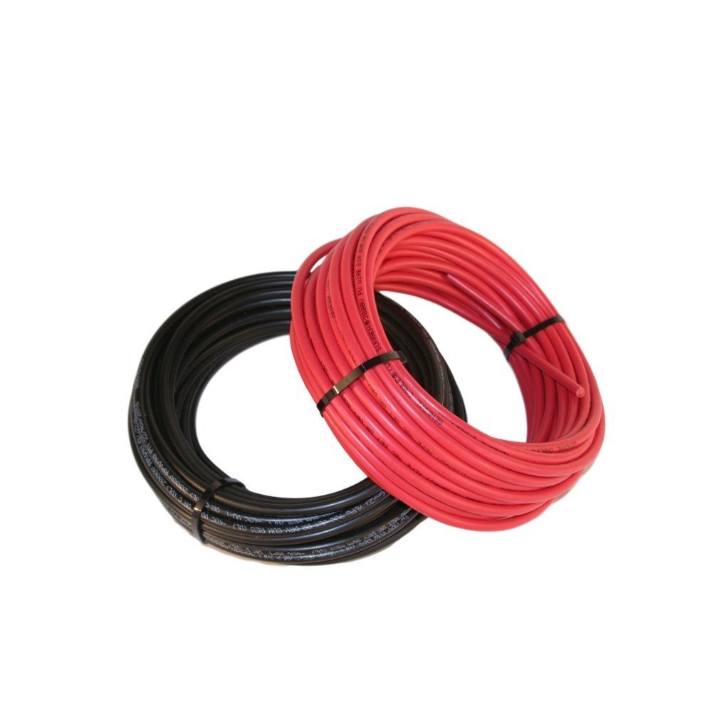 Black and Red #10 Solar Cable 50' Each