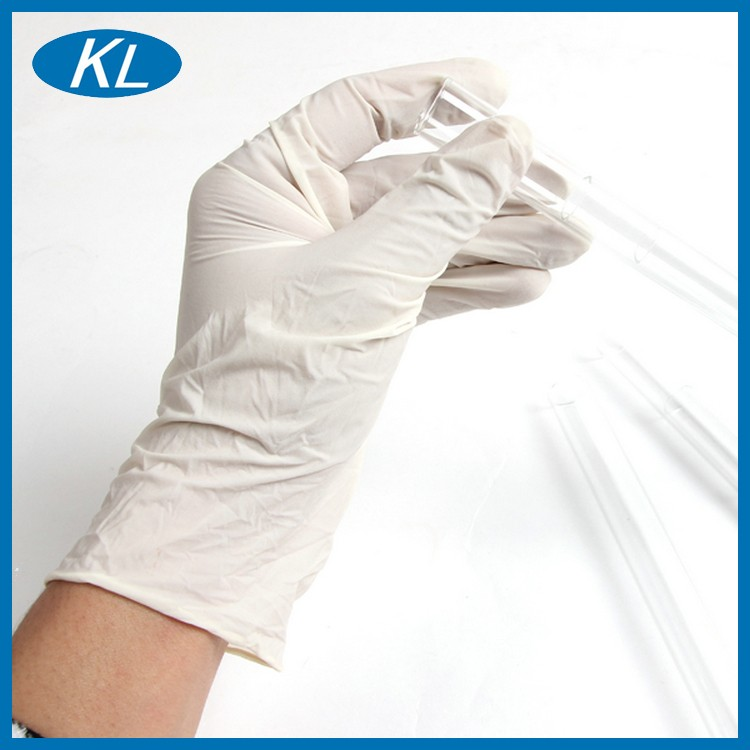 Manufacturer with CE/ISO medical grade beige latex gloves for clinic examination