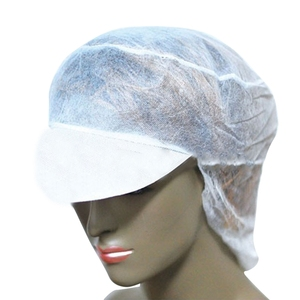 1f231a2dd54 Work head cap snood white nonwoven disposable medical women soft short peak  cap with hairnet
