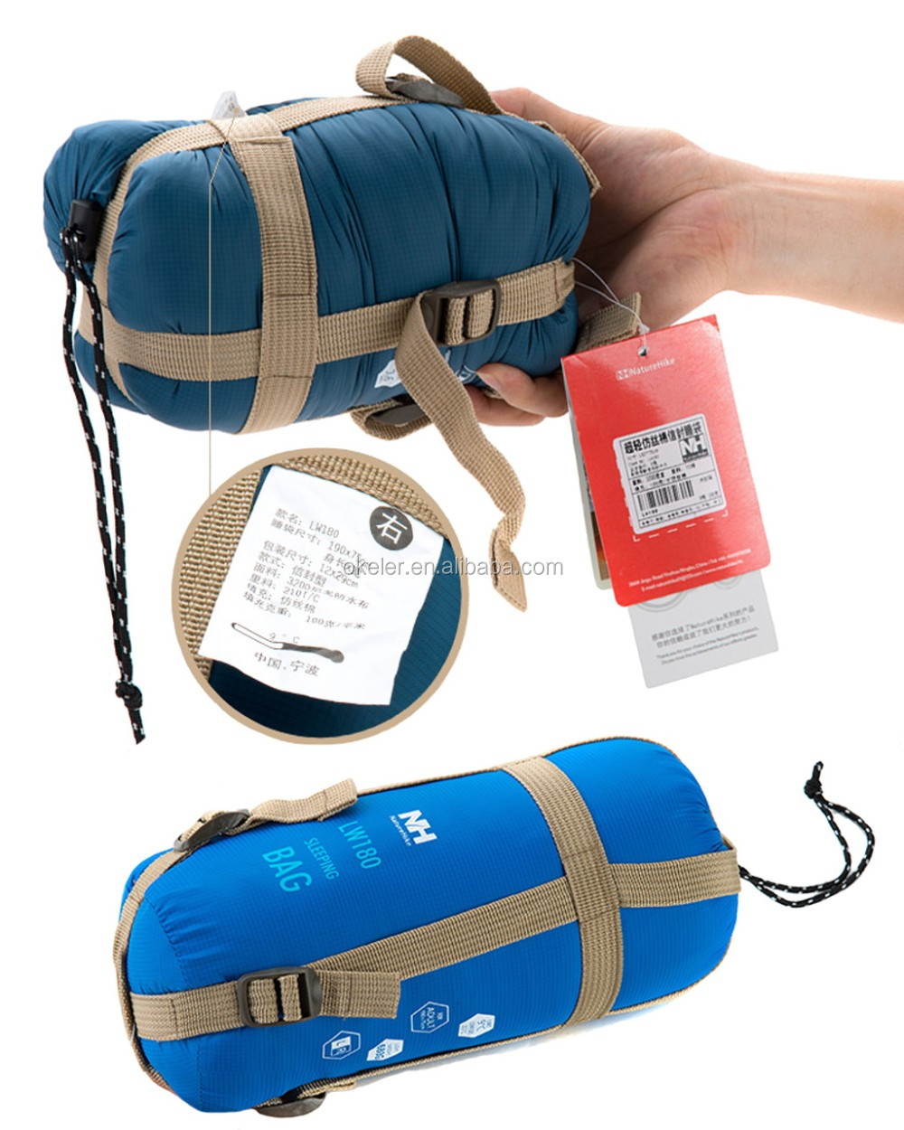 Hiking camping mini ultra small volume light sleeping bag
