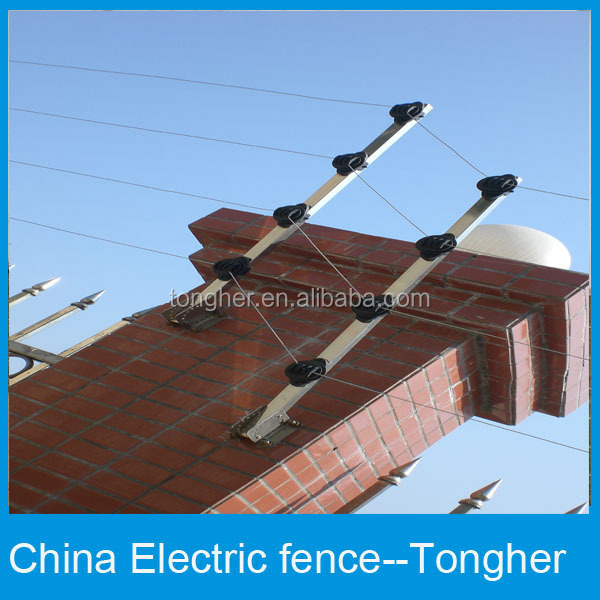 Checking Electric Fence With Voltmeter : New villa top wall electric security fencing