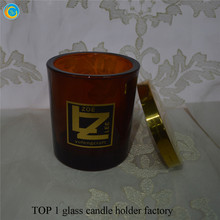 yufeng craft amber glass candle jar