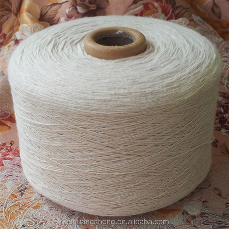 High quality 2s raw white open end recycle cotton mop yarn