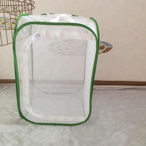 folded green acrylic mesh insect screen cage