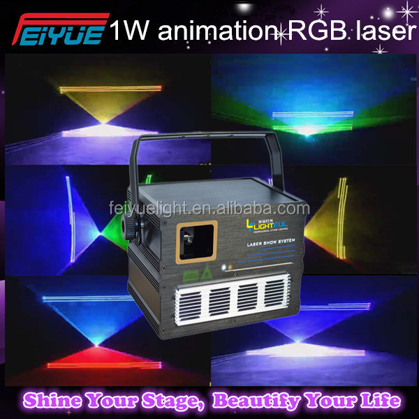 1w Rgb Full Color Animation Laser Light/christmas projector outdoor/special effects lights/ project
