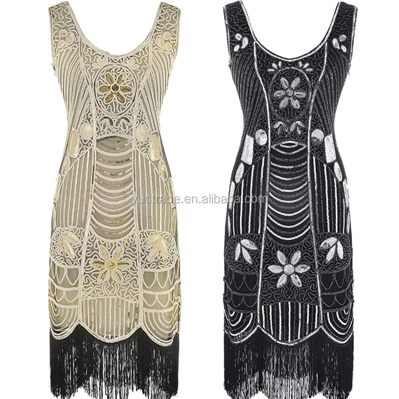Europe America popular Hot Sell Crystal <strong>Vintage</strong> GATSBY Cosplay Costume Evening Party <strong>Dress</strong> 1920s <strong>Dress</strong>