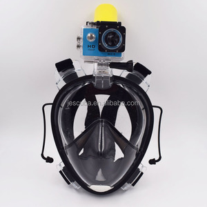 Snorkel mask anti fog full face diving mask with CE certificate;180 degree full face silicone snorkel diving mask