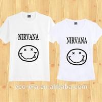 New Fashion Couple T Shirt Wholesale China Cheap Custom Design Tshirt