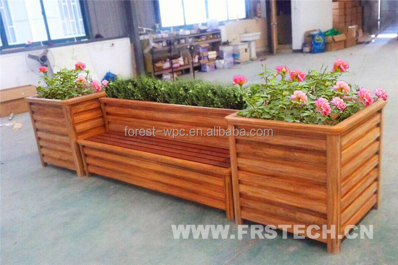 400x390x400mm frstech madera plantadores plantas alibaba - Plastico para jardineras de madera ...
