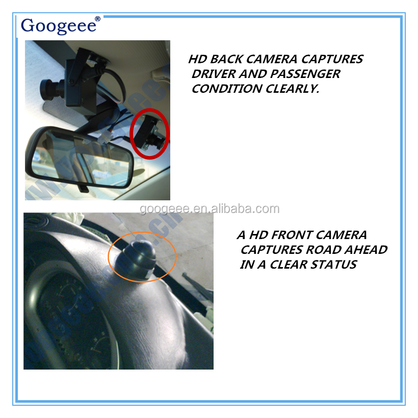 Sharp view and safe driving:: 3G 2 CH mobile dvr with HD car dvr camera