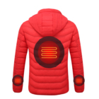 USB Battery Heated Winter Bubble Wadded Clothes Men Jackets and Coats