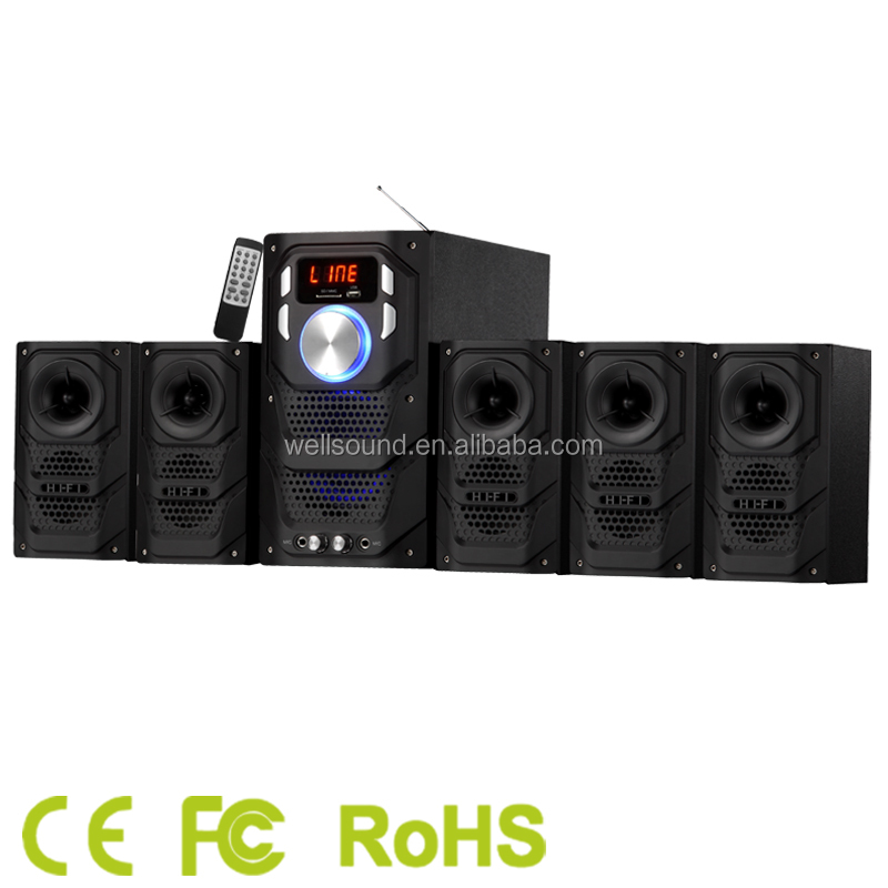 home theater sound system with wireless/USB/SD/FM/led/bluetooth and CE/RoHS