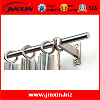 Stainless Steel Adjustable Curtain Rod Polished Quality/ Round Curtain  Bracket