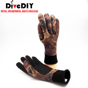 spearfishing man 3mm/5mm Neoprene Camo Free Diving Spearfishing Gloves Especially suitable Spearfishing gloves