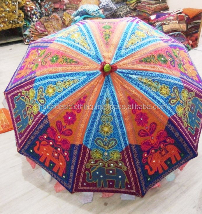 Embroidered Sequin Parasol/Umbrella Decoration Wedding Umbrella