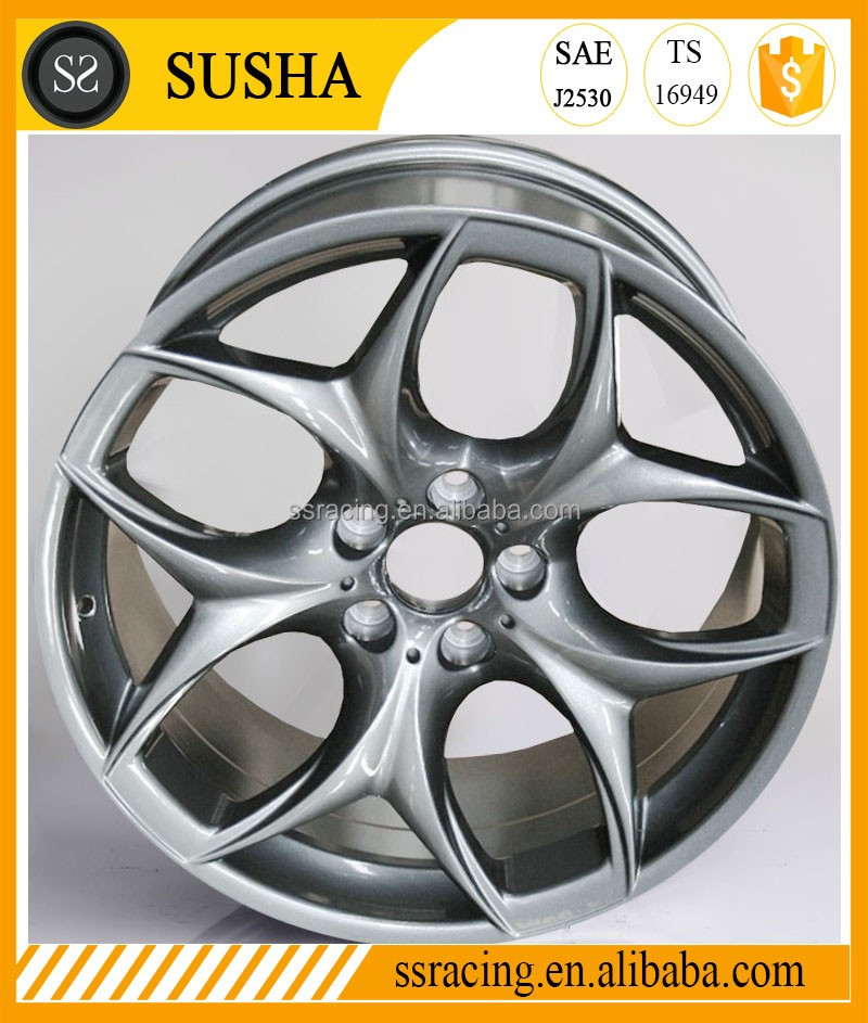 "SS Wheel Supply 17""18""19""20""Sliver machine face replica aluminum alloy wheels for15/14/13 year X6 X5"