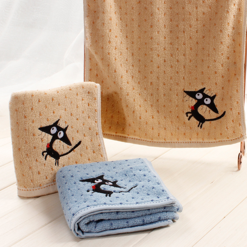 2016 New Arrival Shipping Free Attractive Children Face Towels Kids Cartoon Towels 75x34cm