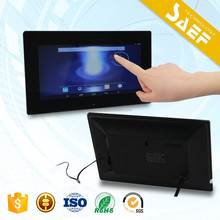 12 inch android advertising display voice recording digital photo frame with wifi