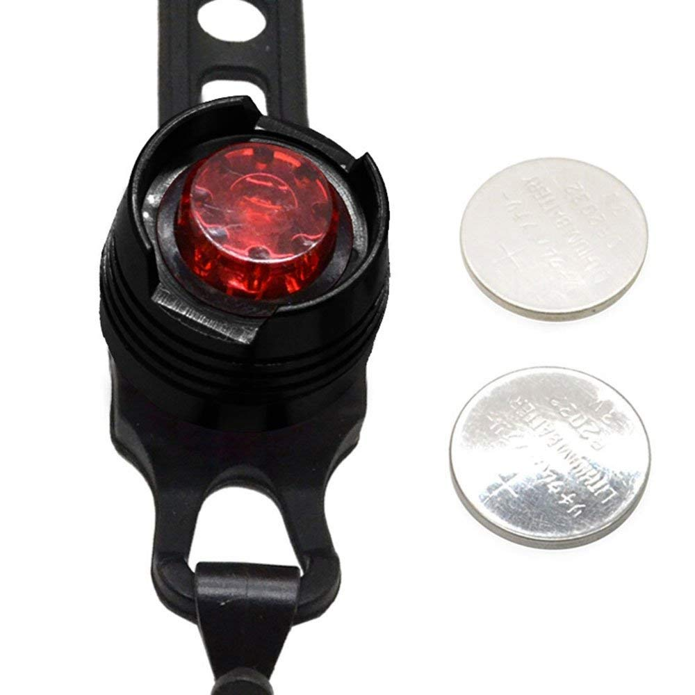 VJK USB Rechargeable Bike Light Super Bright Front Headlight and Rear LED Bicycle Light Water Resistant IPX4 2 USB cables and 2 Strap Included 4 Light Mode Options
