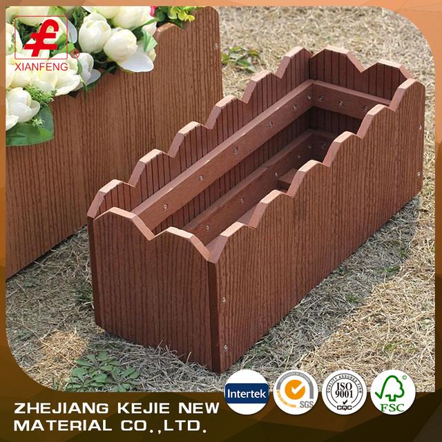 Outdoor Garden Decoration Customized Garden Planters Wpc Flower Box