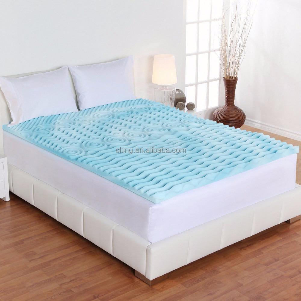 Bamboo Memory Foam Sleepwell Mattress Topper Queen Size Gel Bed