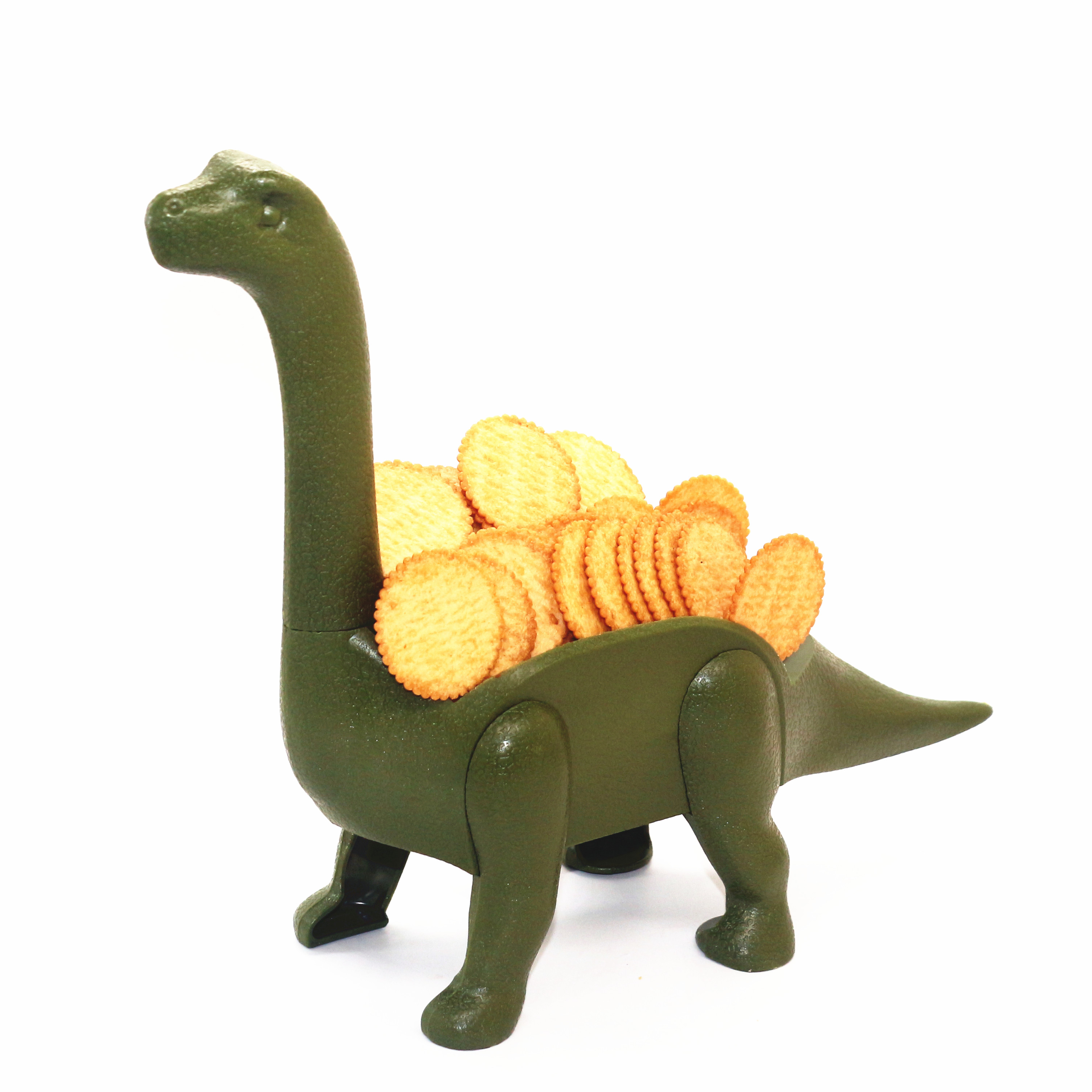 CHRT Ultimate Prehistoric Long Neck Dinosaurs Taco Holder Stand DIY Plastic Kids Taco Holder Wholesale, Green