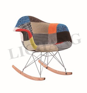 Nordic Style Furniture Multicolor Pure-Hand Sliced Cloth Art Chairs XRB-047-D1 Rocking Chairs