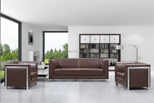Genuine Leather Material Modern Style Sofa Set Office Furniture Sectional Sofa 1610