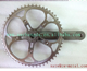 xacd made titanium single speed crankset titanium chainring 52T titanium crank