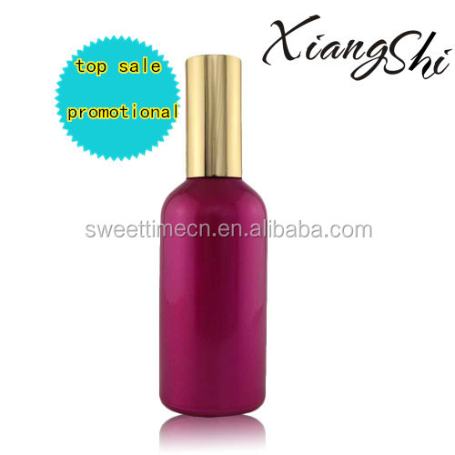 new design&free sample essential oil container with golden spray and cap