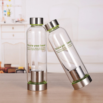500ml thermal drinking galss bottle wholesale glass water bottle with tea infuser