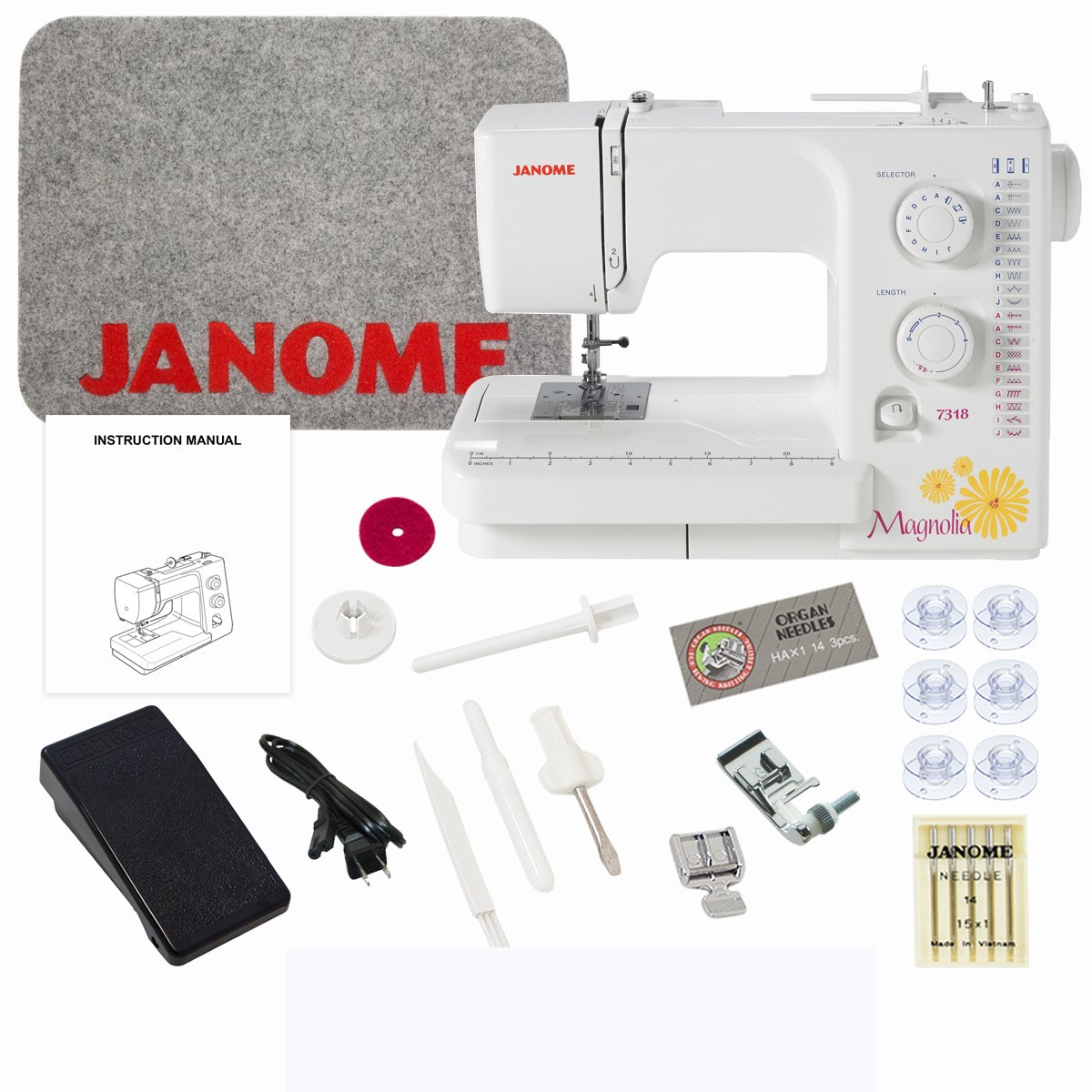 Get Quotations · Janome Magnolia 7318 Sewing Machine with Exclusive Bundle