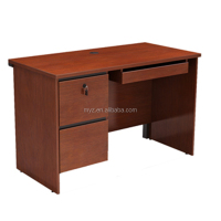 cheap melamine wooden computer table office computer desk for home use with bookcase
