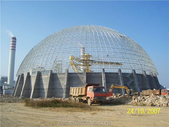 Large Span Dome Coal Yard Steel Structure Shed