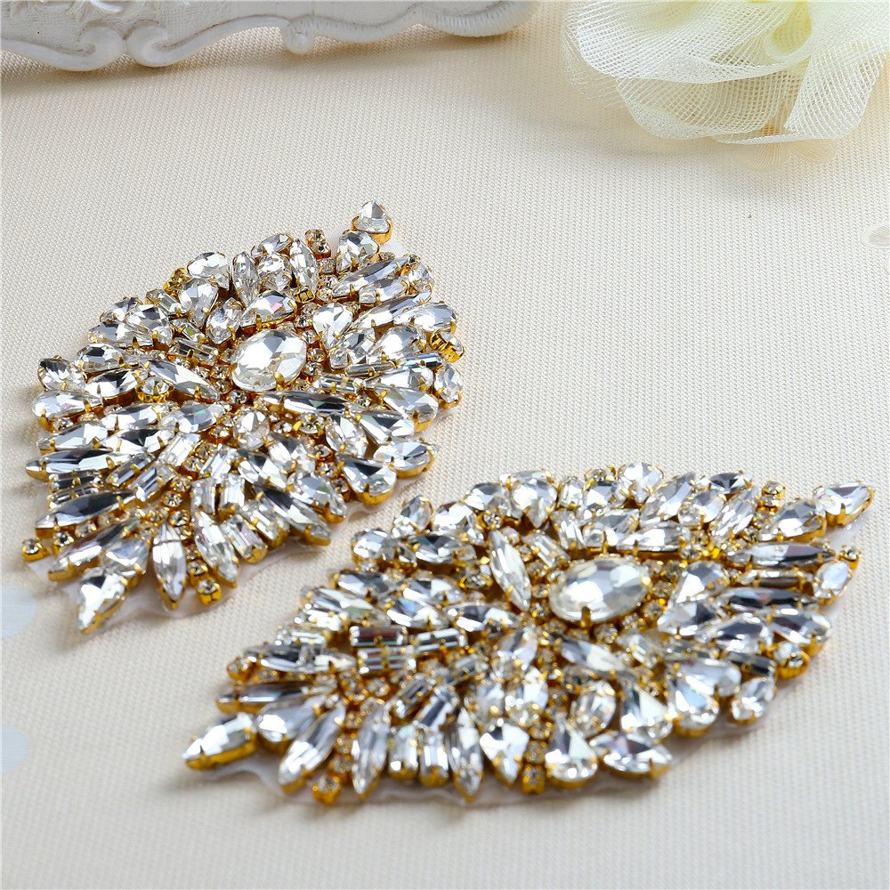 Get Quotations · Rhinestone Iron On Patch Motif Applique DIY Crystals Patch Rhinestone  Hot Fix Applique Sewing Appliques For 3b5d83d20a2c