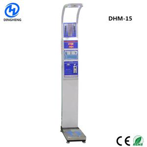 DHM-15 Functions with Coin Slot/Coin Operated Weight and Height Gym Body fat scales