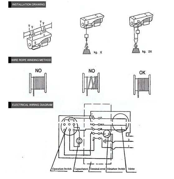 wiring diagram for electric hoist   33 wiring diagram