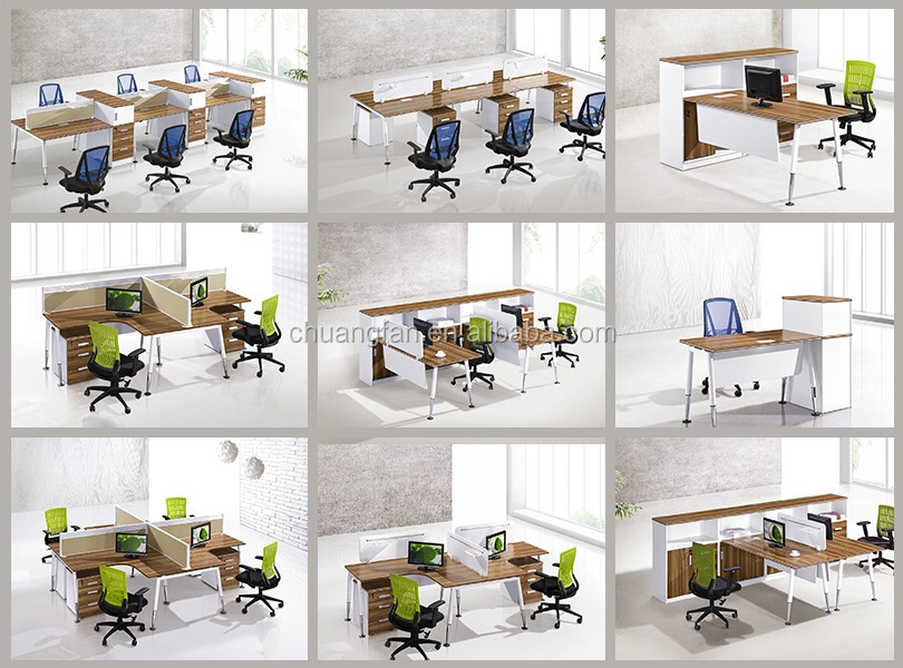 Modern Commercial Furniture 2 Person Office Staff Writing