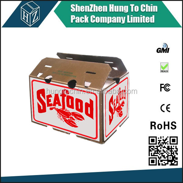Wax dipped carton packing box for fish