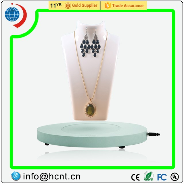 HCNT revolving levitation jewellery display stand for counter stand display