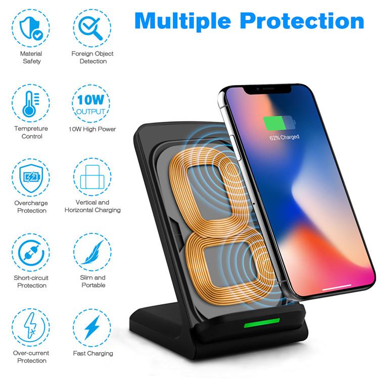 Amazon Üst Satış Hızlı Cep Telefonu Kablosuz Şarj Için Huawei mate 20, Samsung Galaxy A8 S8 S9 Için QI Kablosuz Şarj Artı